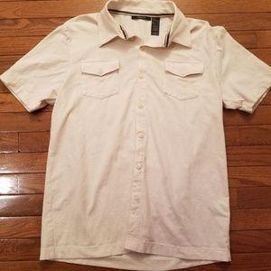 Men's Claiborne Cream Button Down Pocket Shirt